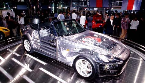 Xe thể thao mui trần Honda S2000 nhìn xuyên thấu tái xuất gây ấn tượng cực mạnh