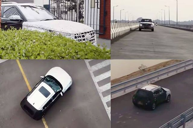 Hình ảnh được cho là mẫu Hyundai Venue chạy thử tại Ấn Độ
