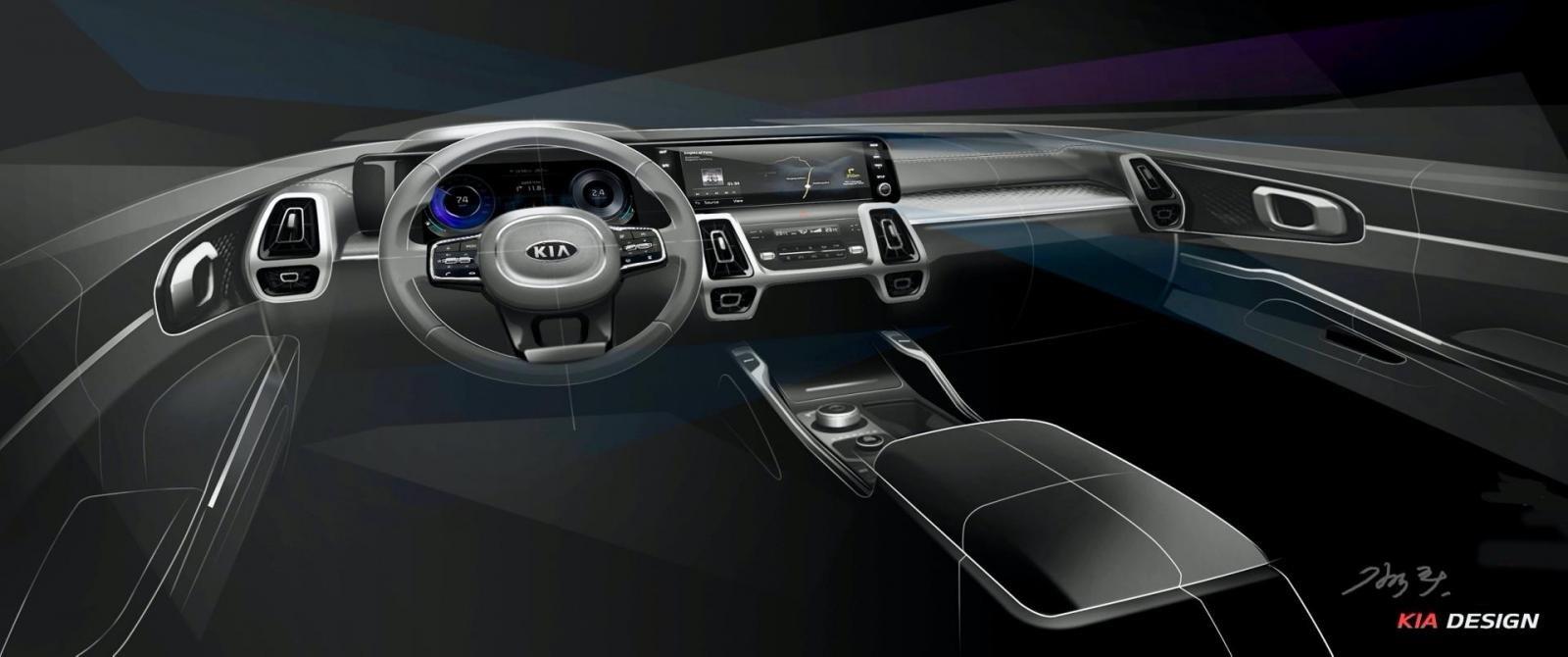 Lộ diện Kia Sorento 2021, nội thất xịn như xe sang