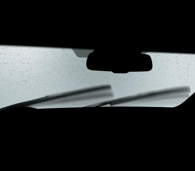 Hệ thống gạt mưa tự động thông minh tự kích hoạt khi phát hiện có mưa giúp giảm thao tác cho người lái.