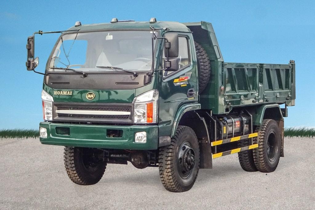 xe tải ben Hoa Mai 2 cầu 5 tấn 55 E4TD