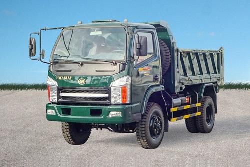 Xe tải ben Hoa Mai 4.45 tấn 2 cầu Euro 4