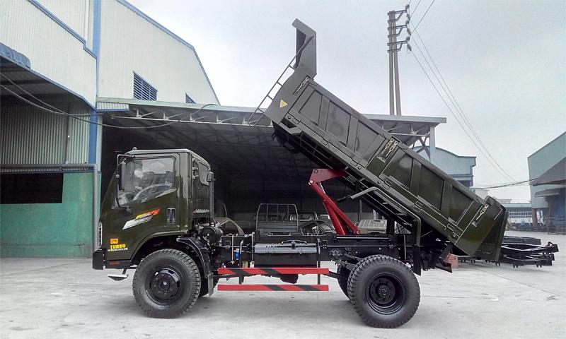 Xe tải ben Chiến Thắng 6.2 tấn 2 cầu cabin mới
